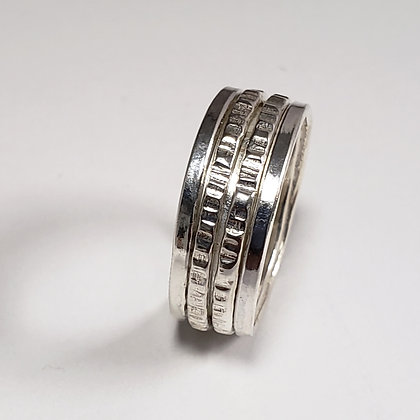 #D725 Meditation Ring, Double, Silver
