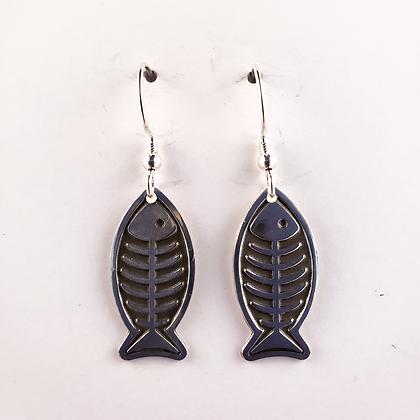 #E905 Fish Bones Earrings