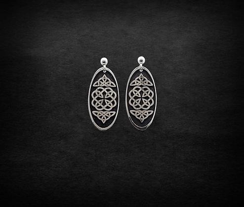 Celtic Long Oval Earrings