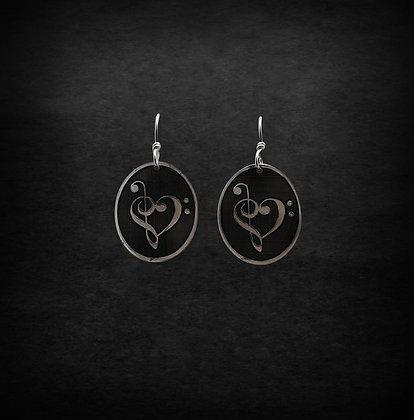 Music Heart Earrings
