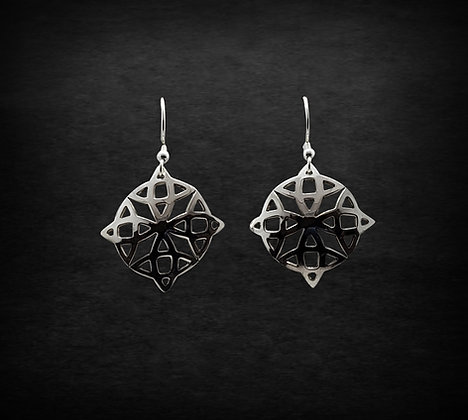 Celtic Round Cut Out Earrings