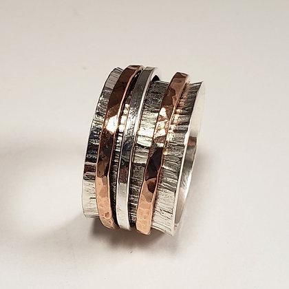 #A726 Meditation Ring, Anticlastic, Rose/Silver