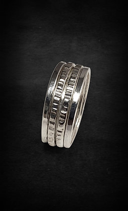 Silver Double Meditation Ring