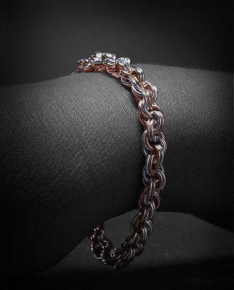 Silver & Rose Gold Spiral Doubled 18 Gauge