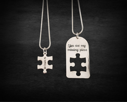 Missing Puzzle Pendant Set