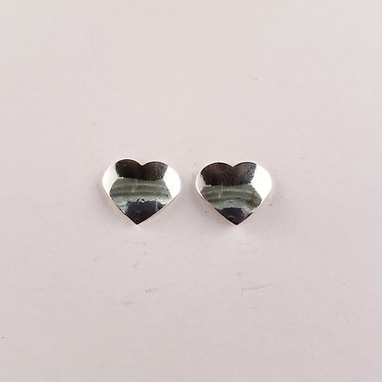 #E917 Heart Stud Earrings