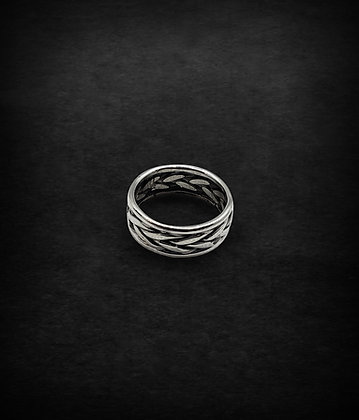 Braided with Side Bands Ring