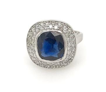 18ct White Gold Sapphire and Diamond
