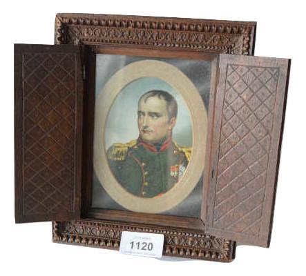 Antique lithographic portrait of Nap