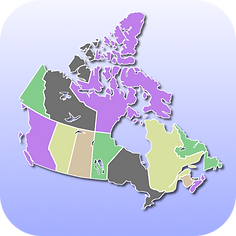 Canada Map Quiz iPhone app