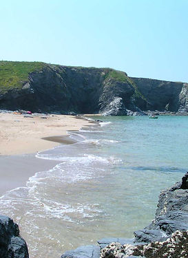 Porthcothan beach near Newquay and Padstow in Cornwall