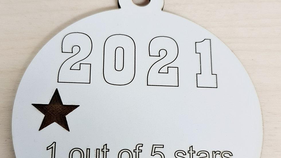 2021 shitshow hanging ornament