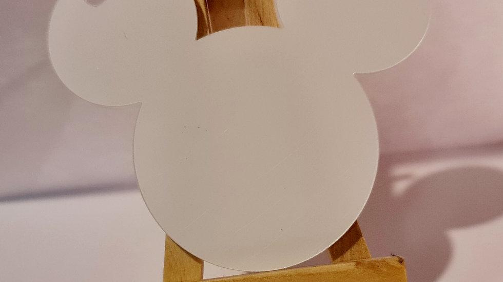 Mouse head key chain acrylic 3mm