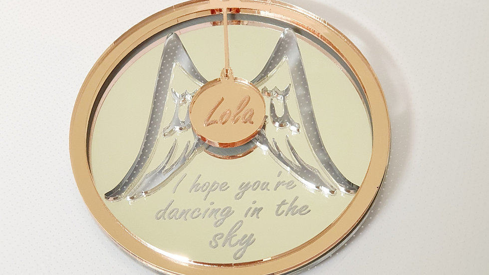 Triple layer mirrored memorial bauble