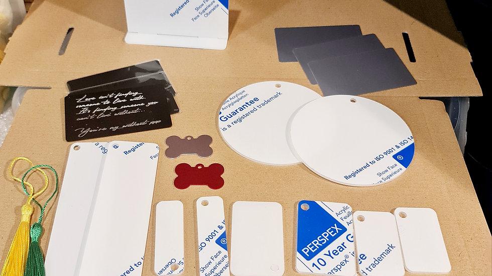 2mm clear acrylic and aluminium cricut maker engraving bundle