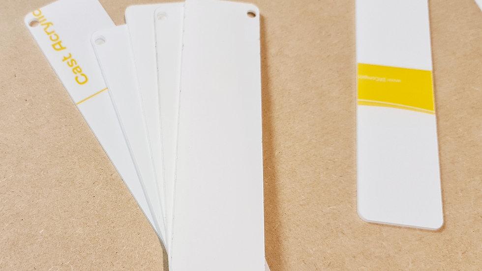 2mm clear acrylic bookmark 4x15cm