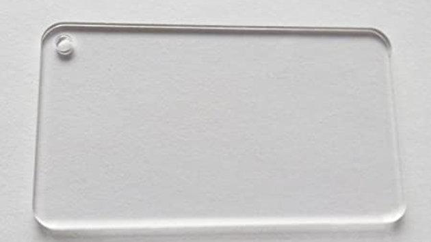 5x7.5 cm round edged keychain blank pack of 10