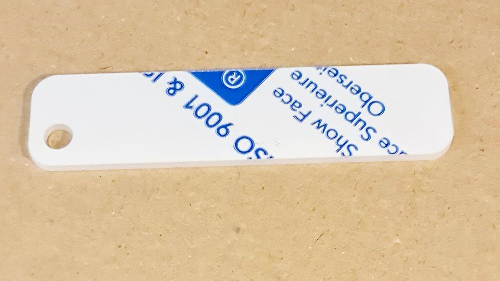2x8cm 3mm acrylic keychain fob