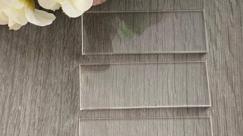Acrylic rectangles 30cm+