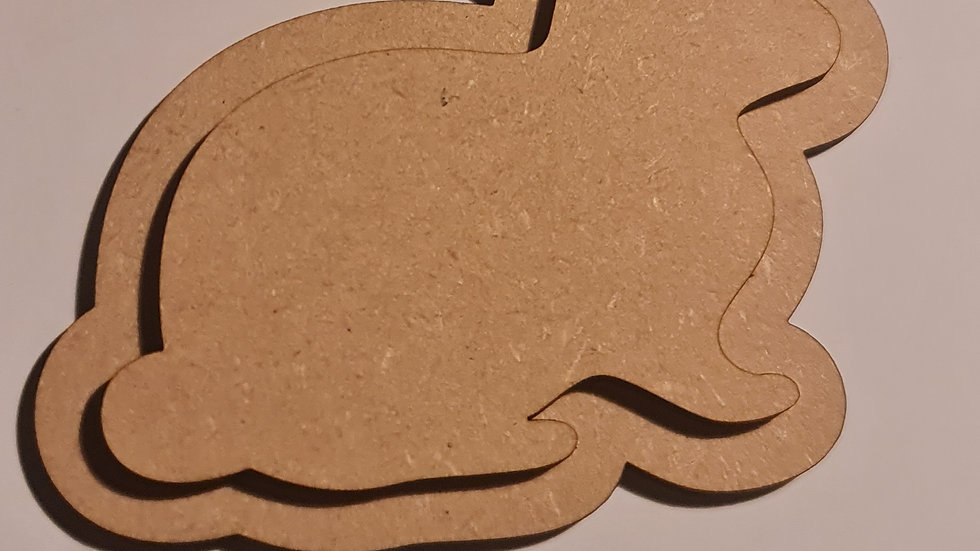 Plain mdf hanging bunny double layer