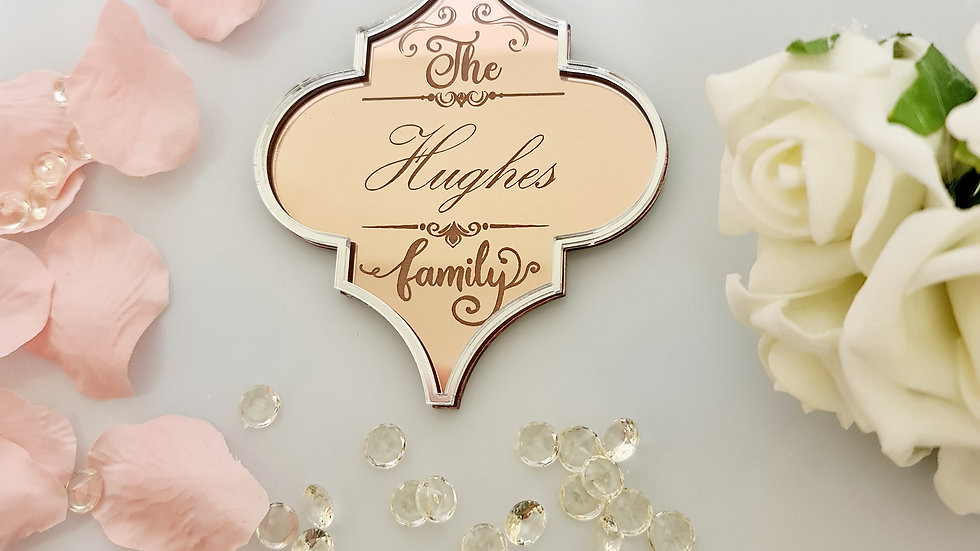 personalised family hanging decoration