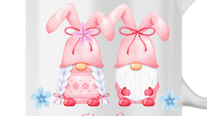 blue happy easter gnomes png