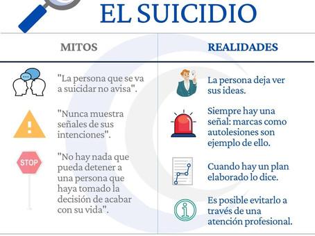 Mitos y realidades sobre el Suicidio