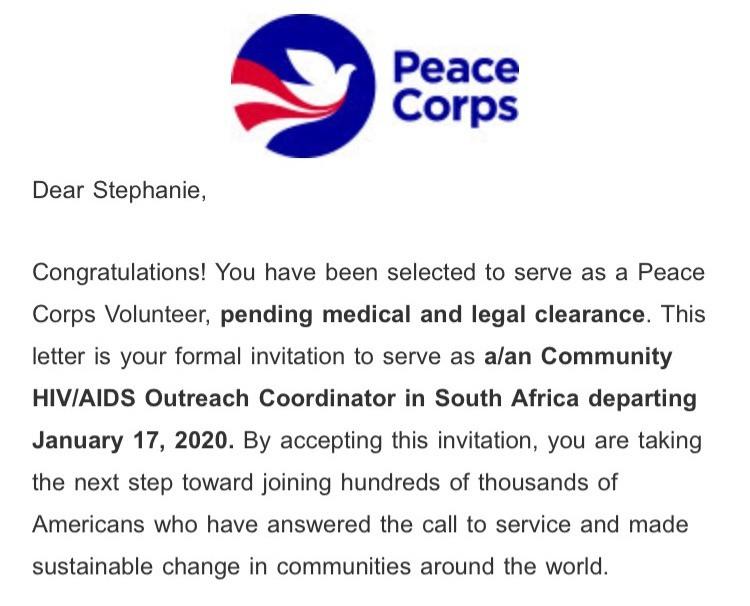 Peace corps essays