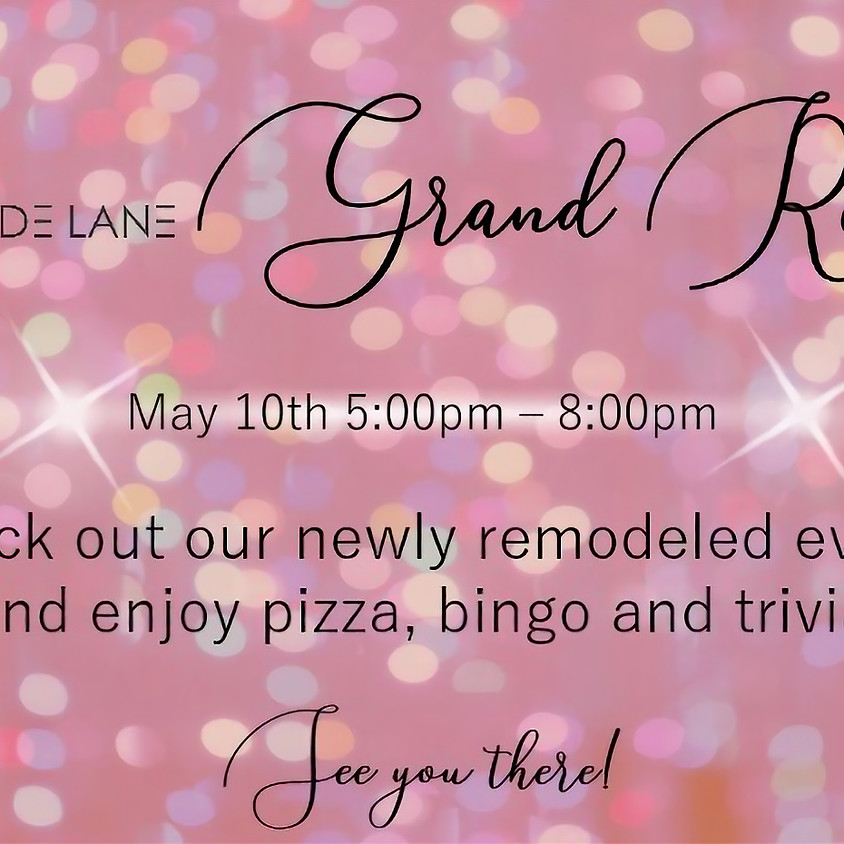 Come see our newly remodeled event space!