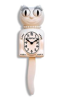 Kit-Cat Klock Lady White