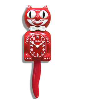 KIT-CAT KLOCK RED