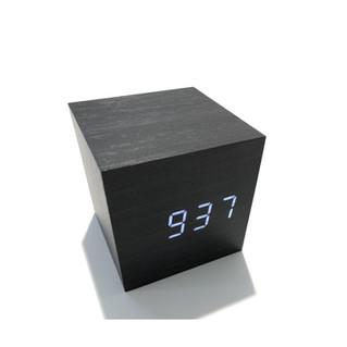 GINKO CUBE CLICK CLOCK schwarz