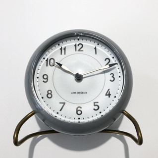 TABLE CLOCK STATION GREY