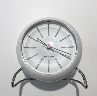 TABLE CLOCK BANKERS WHITE