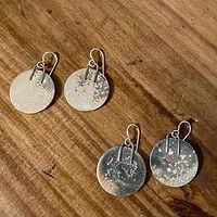 Maine Yoga Jewelry, Handmade Silver Earrings.