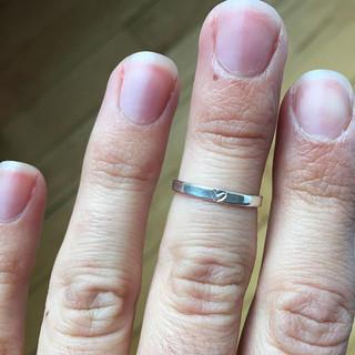 Tiny heart ring