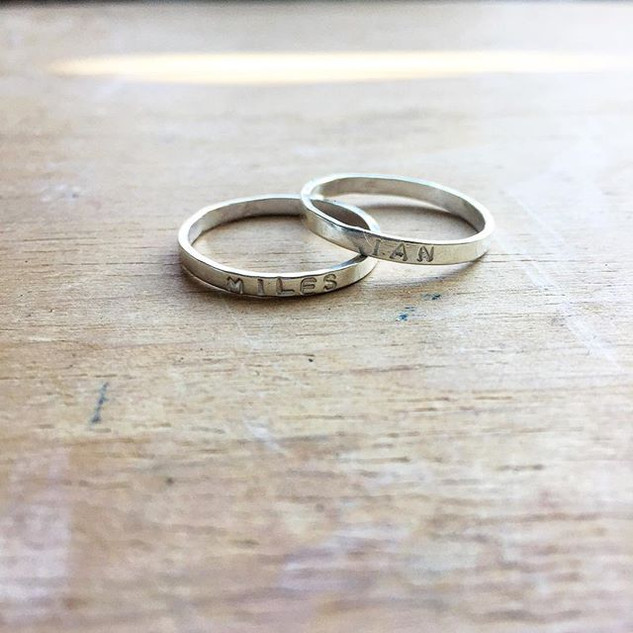 Son's names on rings