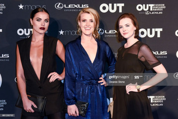Brie with fellow actresses Lexy and Josefin