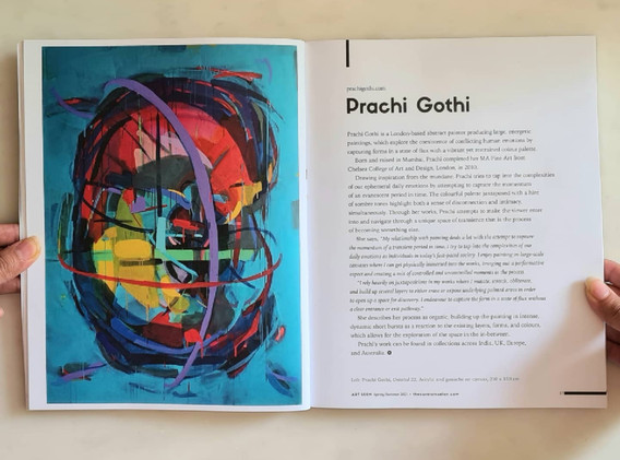 Honoured to be feautred  in Art Seen, the first publication by The Curator's Salon