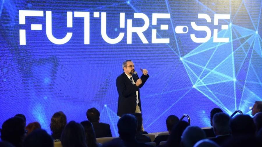 17.jul.2019 - O ministro da Educação, Abraham Weintraub, durante apresentação do Future-se