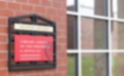 University Building Sign _ Clinton Colle