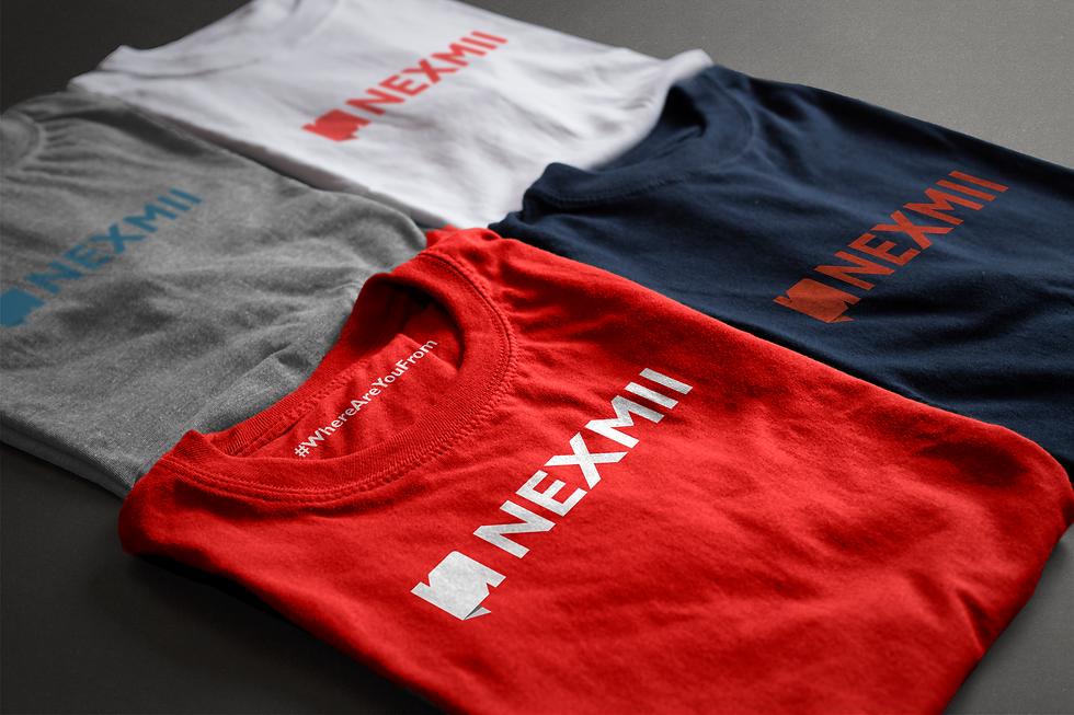 Nexmii t-shirt design. Lanuage learning app