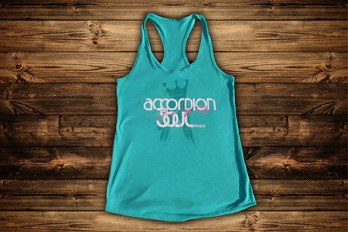 Women's Accordion Soul Aqua Tank