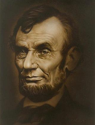 "Abraham Lincoln, 20""x24"""