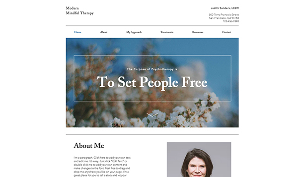 Health website templates – Clinical Psychologist