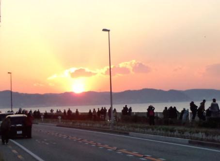 2014  初日の出!七里ガ浜から