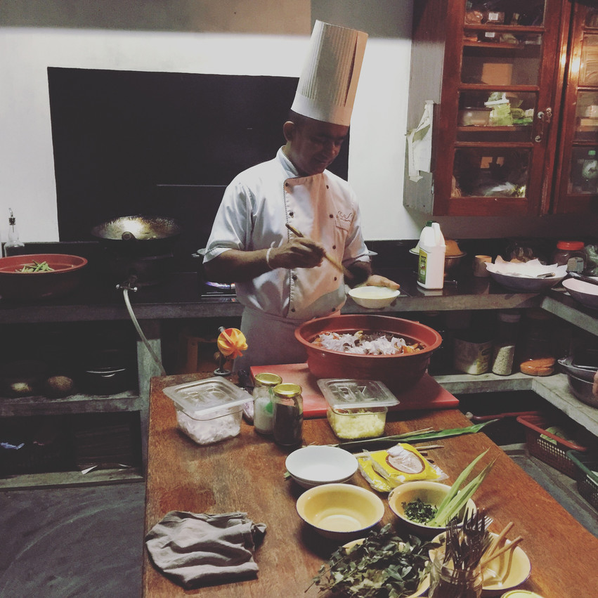cooking at Sunshine Stories Villa