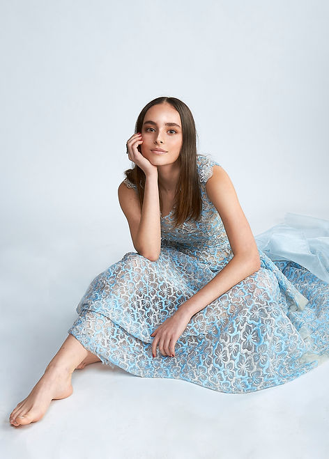 See-throu Embroidered and Pearl Embellished Dress