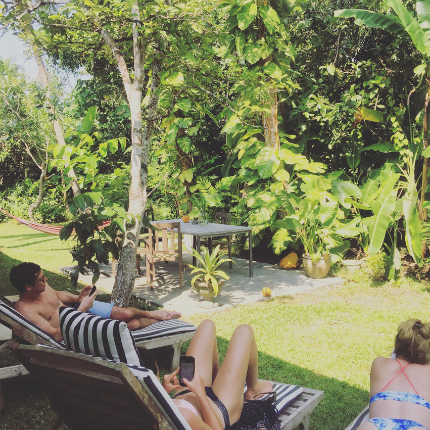 post surf at Sunshine Stories Villa