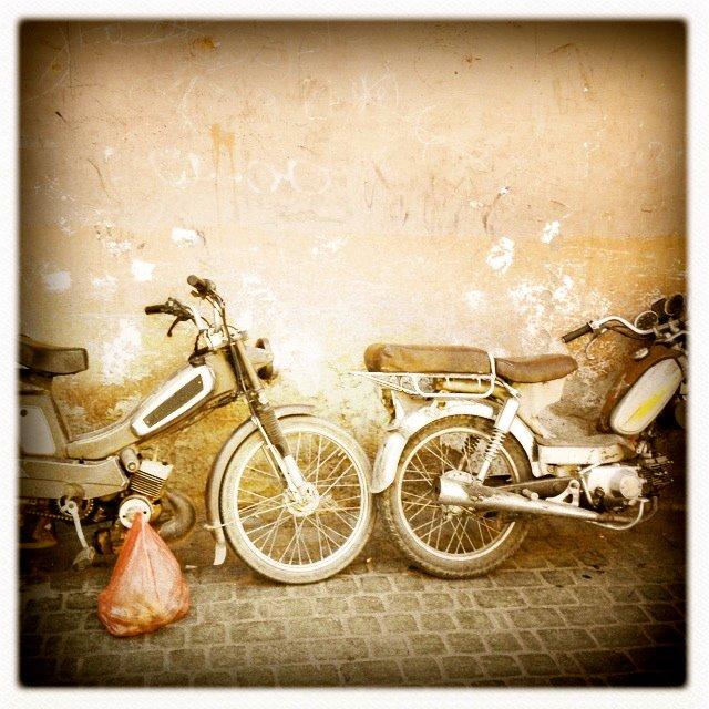 There were bikes everywhere in the medina..